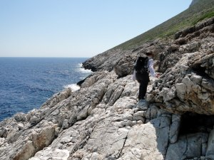 In pursuit of dwarf mammoths. Following in Dorothea Bate's footsteps in Crete. Photo (c) Dr David Richards.