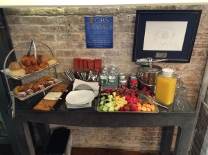 CBS This Morning puts on a good breakfast spread. Nobody wants to eat the pastries, again.