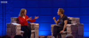 Russell Howard and I discuss the finer points of etiquette when sharing a bedroom with one's clone...