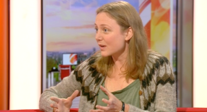 On the BBC Breakfast Sofa, wearing my apple-scratting, cider-making clothes (all I had with me that weekend…)