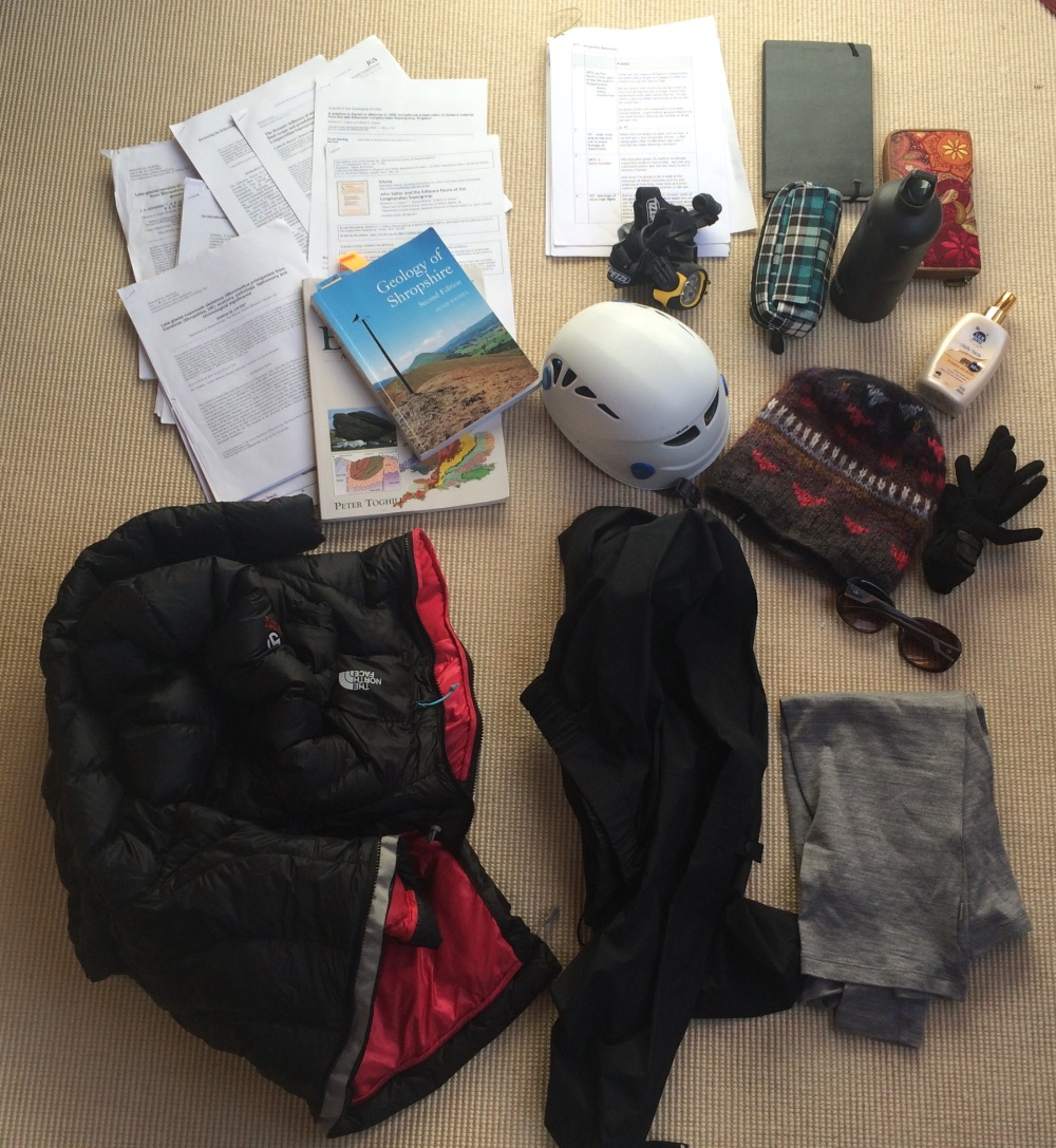 Typical contents of my Walking Through Time back pack!